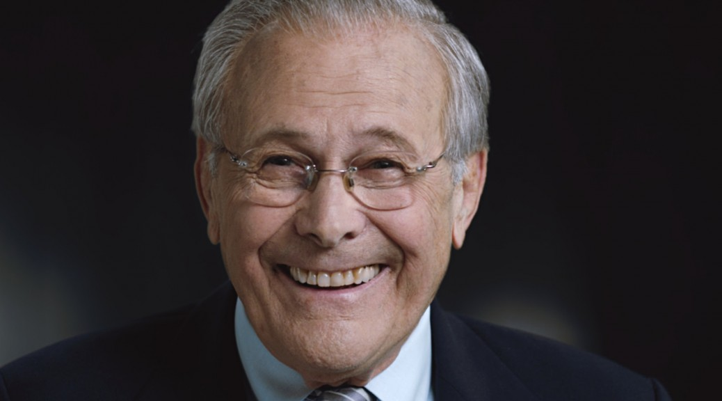 Rumsfeld: unruffled by the Errol Morris documentary treatment